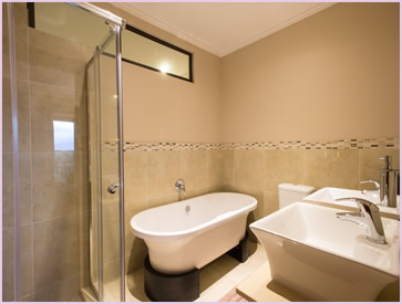 One of the en-suite bathrooms at the Baluwatu villa