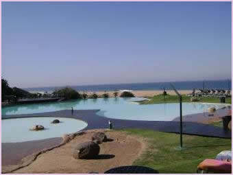 Zimbali communal pool facility and ocean