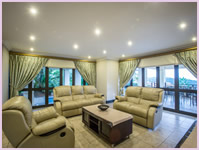 Luxurious lounge at Zimbali Holiday Home's Acaciawood unit