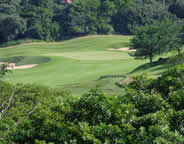 View of the Zimbali Golf Country Club fairway and green